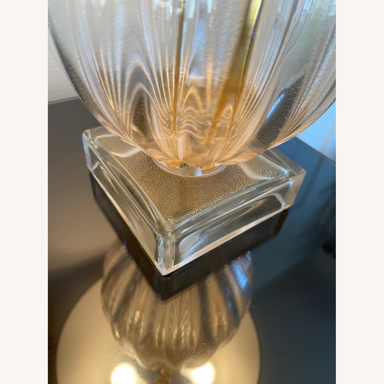 Nancy Corzine Pair of Murano Teardrop 617G Lamps - image-5