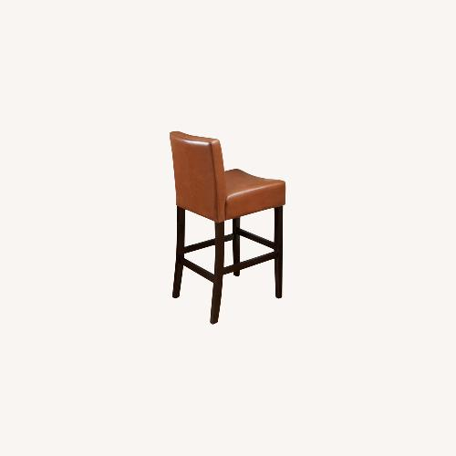 Used Milan Faux Leather Counter Stools 6 Camel brown for sale on AptDeco