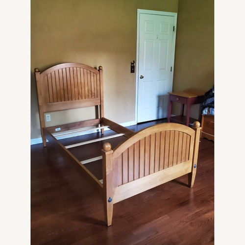 Used Ethan Allen Solid Maple Twin Bed for sale on AptDeco
