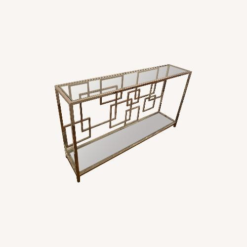 Used Modern Silver & Glass Wall Piece for sale on AptDeco