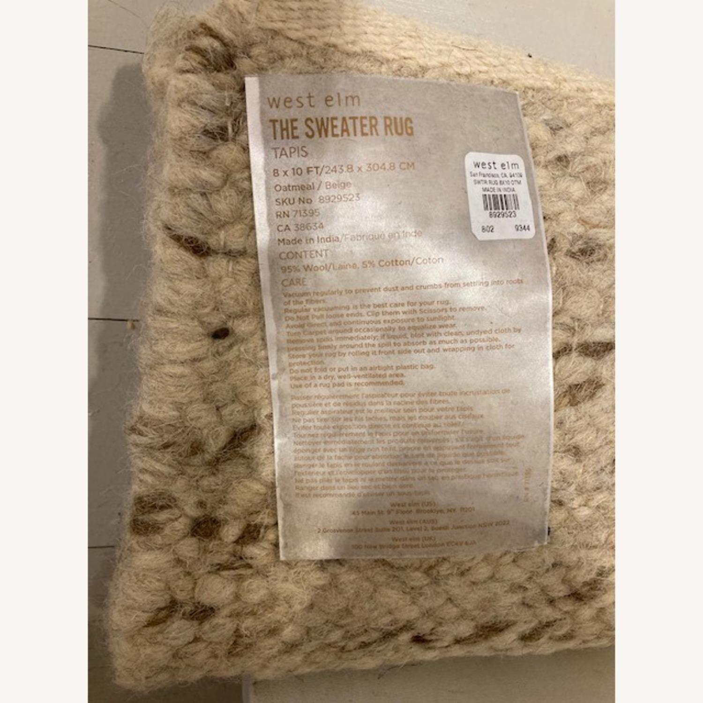 West Elm Sweater Rug - Oatmeal - image-1