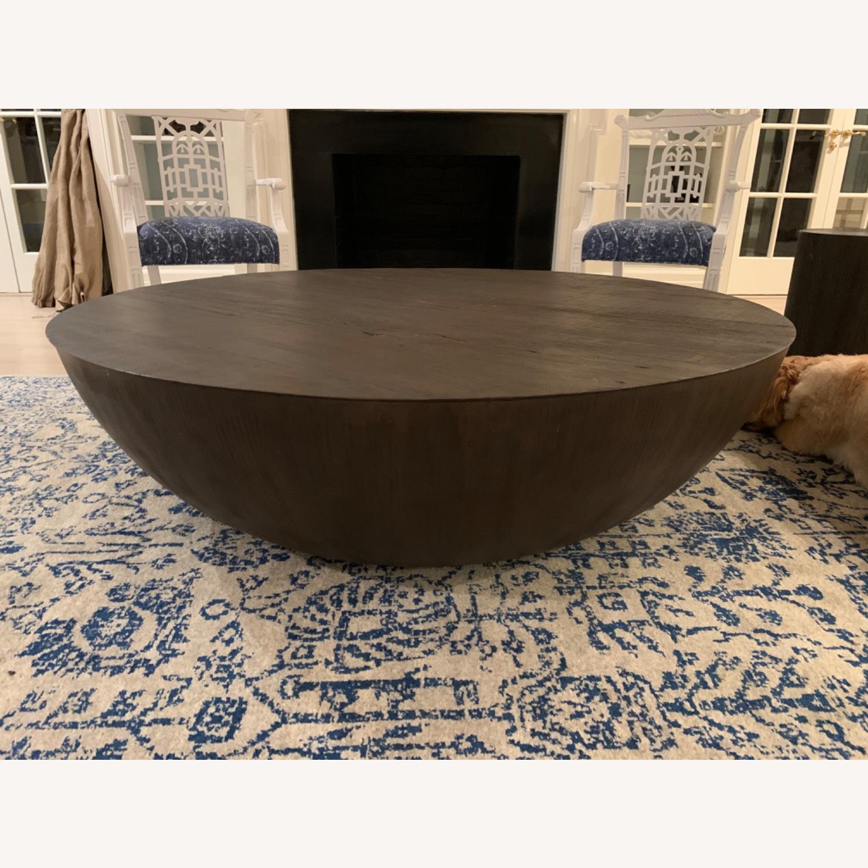 Restoration Hardware Sphere Round Coffee Table Aptdeco [ 1500 x 1500 Pixel ]
