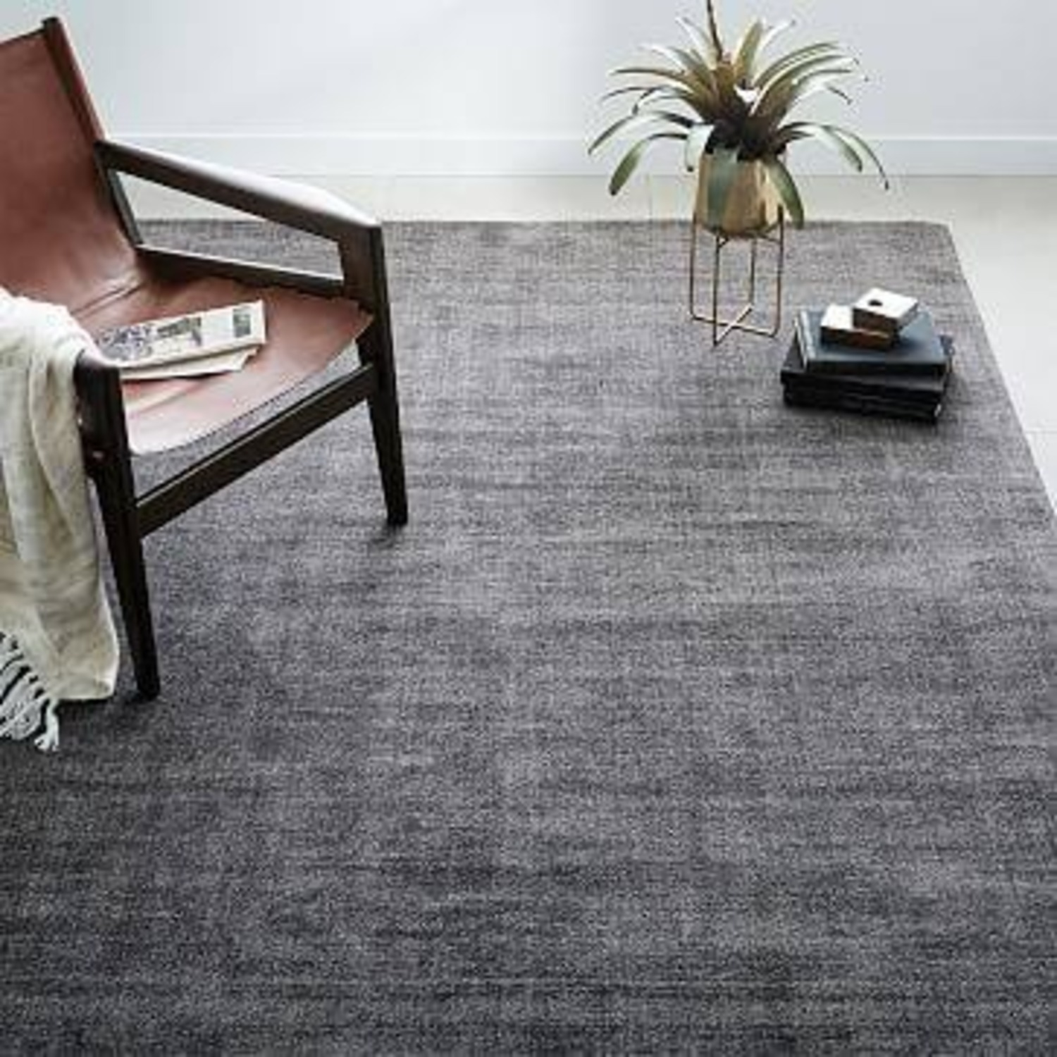 West Elm Patina Shine Rug Asphalt - image-2