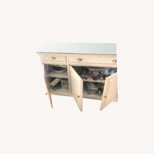 Used Lane Furniture Whitewash Media Console for sale on AptDeco