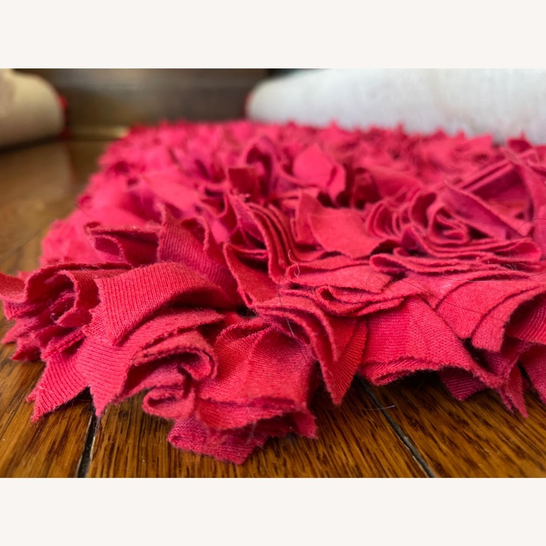 Red Cotton Rag Rug - image-4