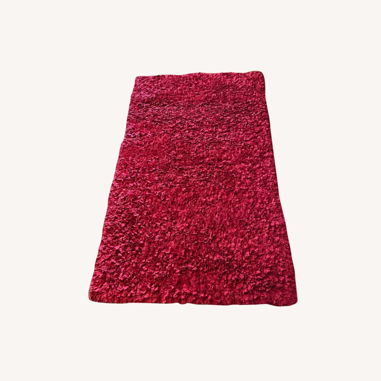 Red Cotton Rag Rug - image-0