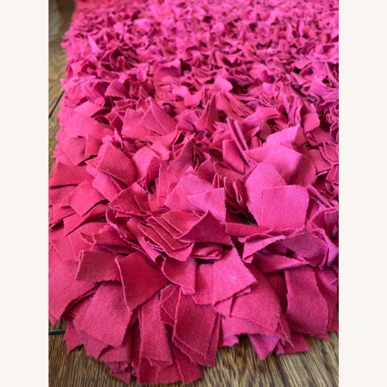 Red Cotton Rag Rug - image-5