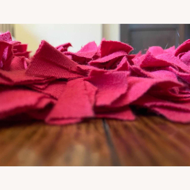 Red Cotton Rag Rug - image-2