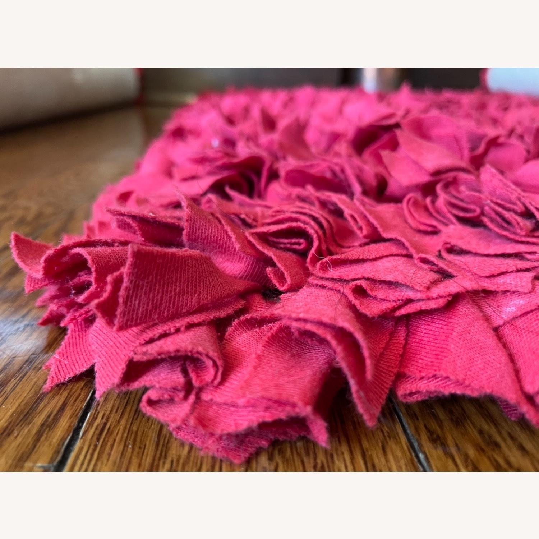 Red Cotton Rag Rug - image-6