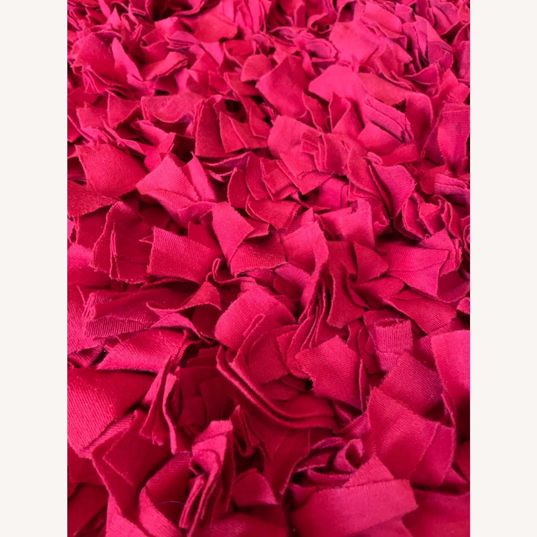 Red Cotton Rag Rug - image-3