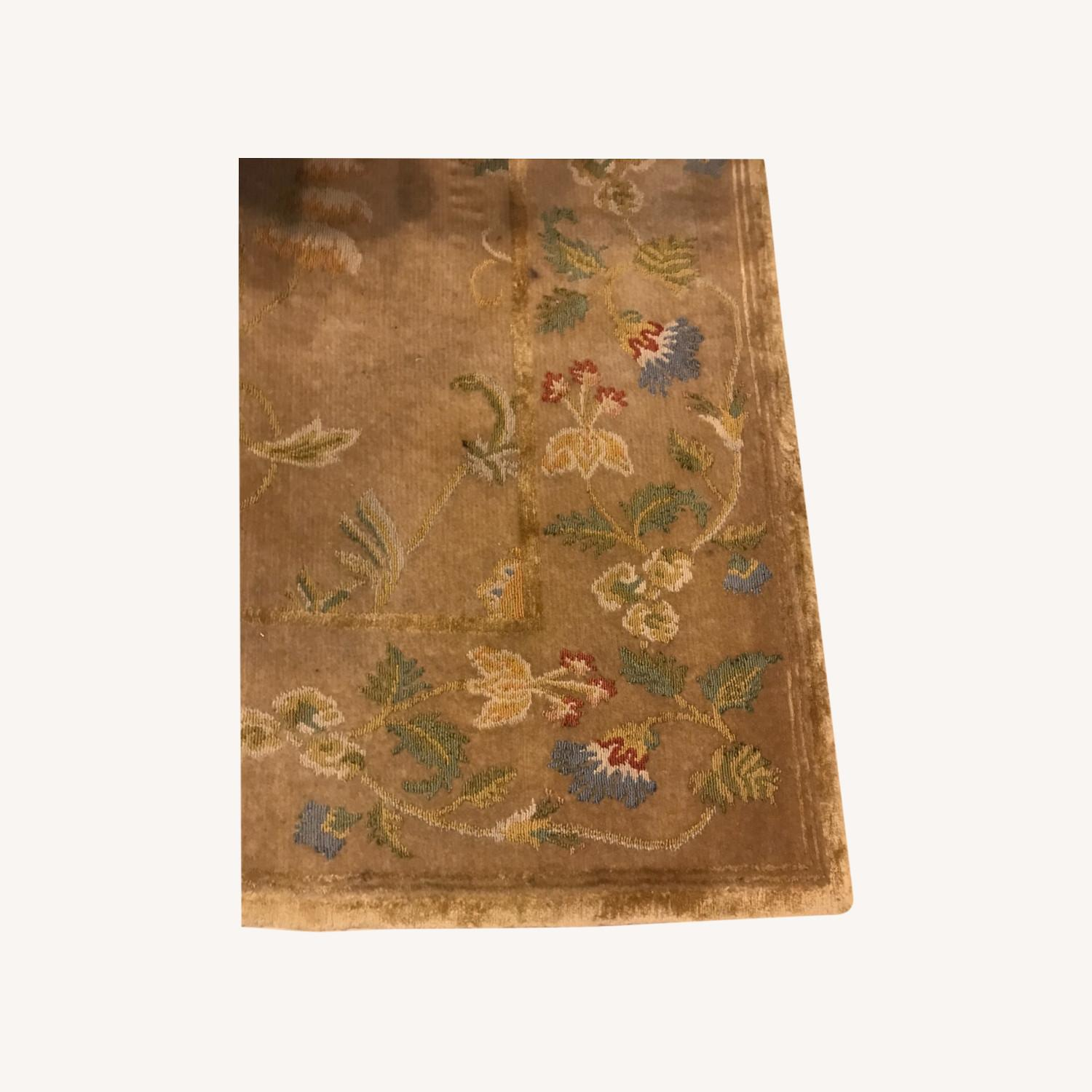 Handknotted Woolyn And Silk Rug - image-0