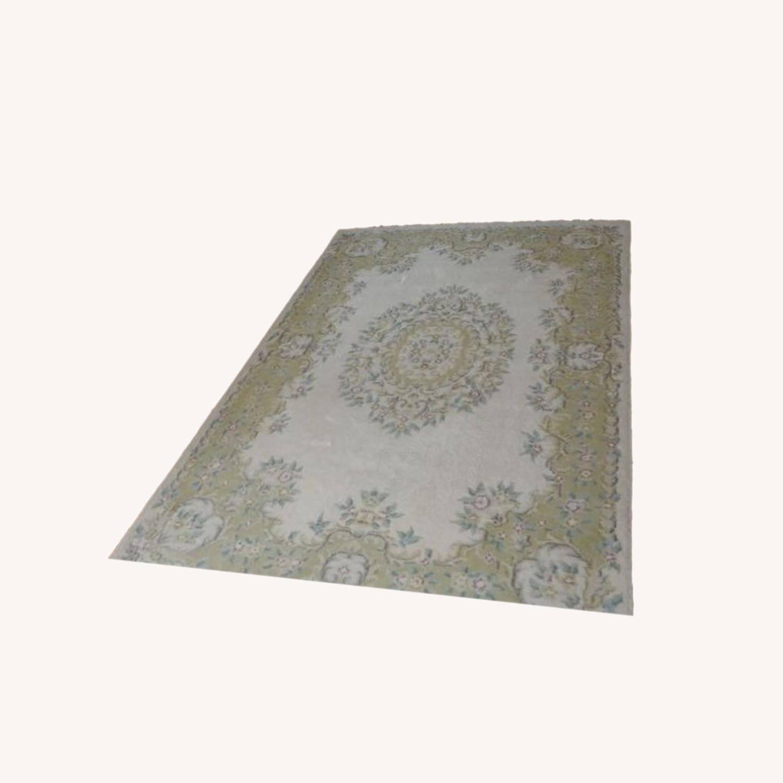Hand-woven Pastel 100% Virgin Wool Oriental Rug - image-0