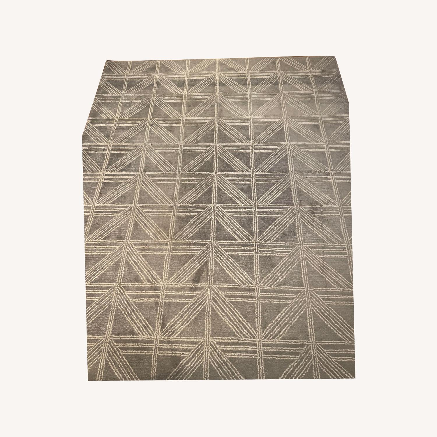 Artisan Home Light Blue/Gray and White Patterned Rug - image-0