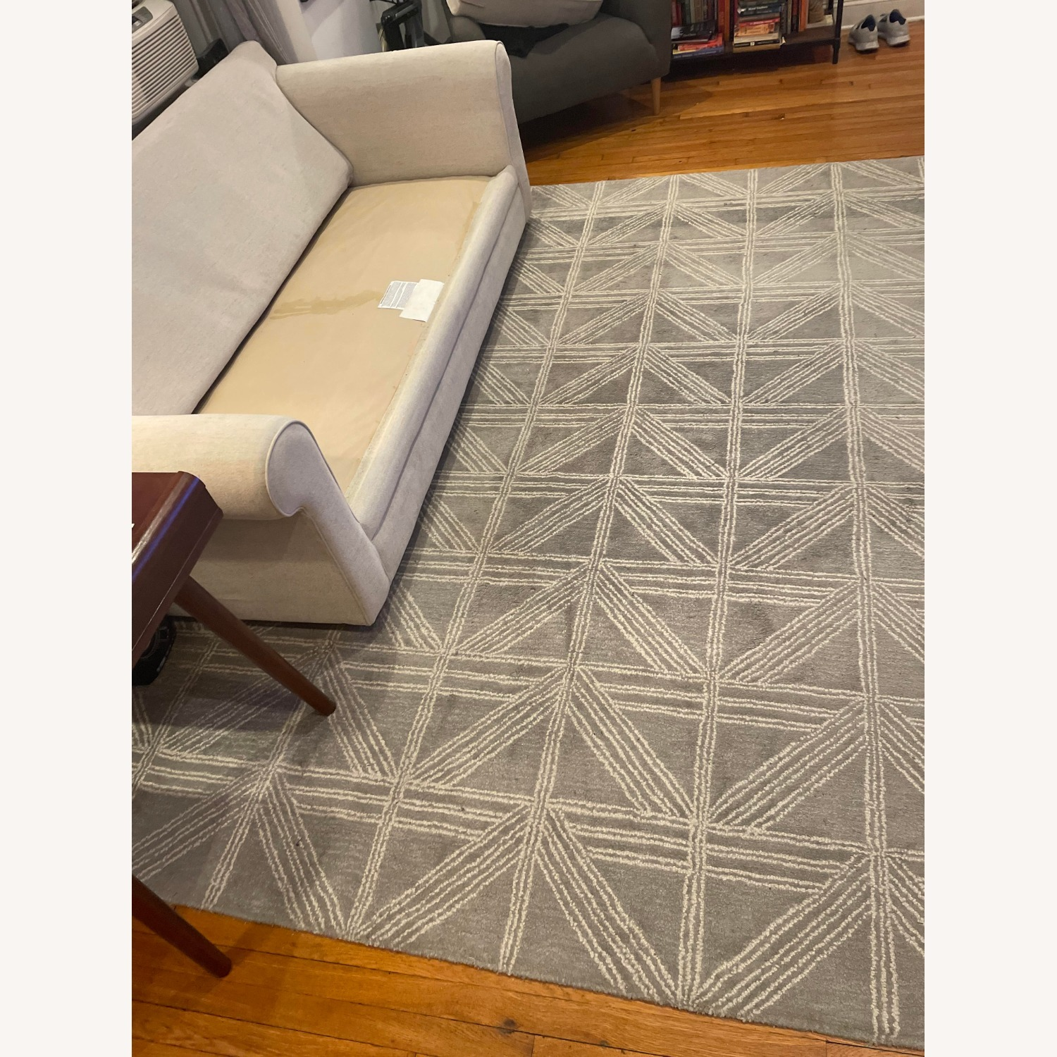 Artisan Home Light Blue/Gray and White Patterned Rug - image-2