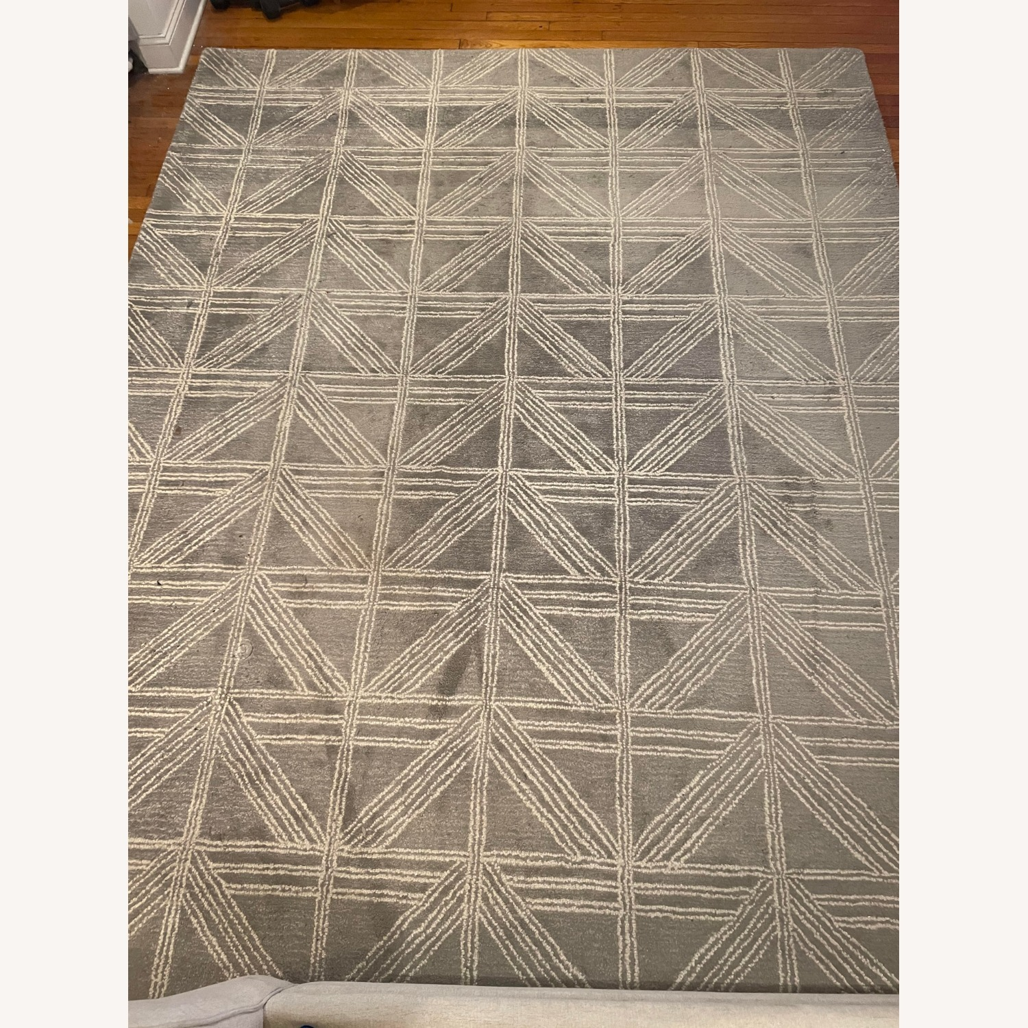 Artisan Home Light Blue/Gray and White Patterned Rug - image-1