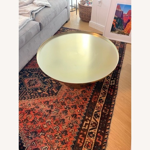 Used Article Round Brass Coffee Table for sale on AptDeco