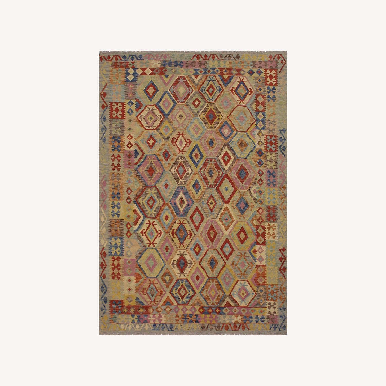 Arshs' Fine Rugs Navaho Vintage Kilim Rug 6'8 x 9'3 - image-0