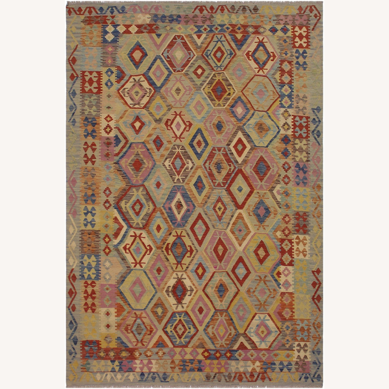 Arshs' Fine Rugs Navaho Vintage Kilim Rug 6'8 x 9'3 - image-1