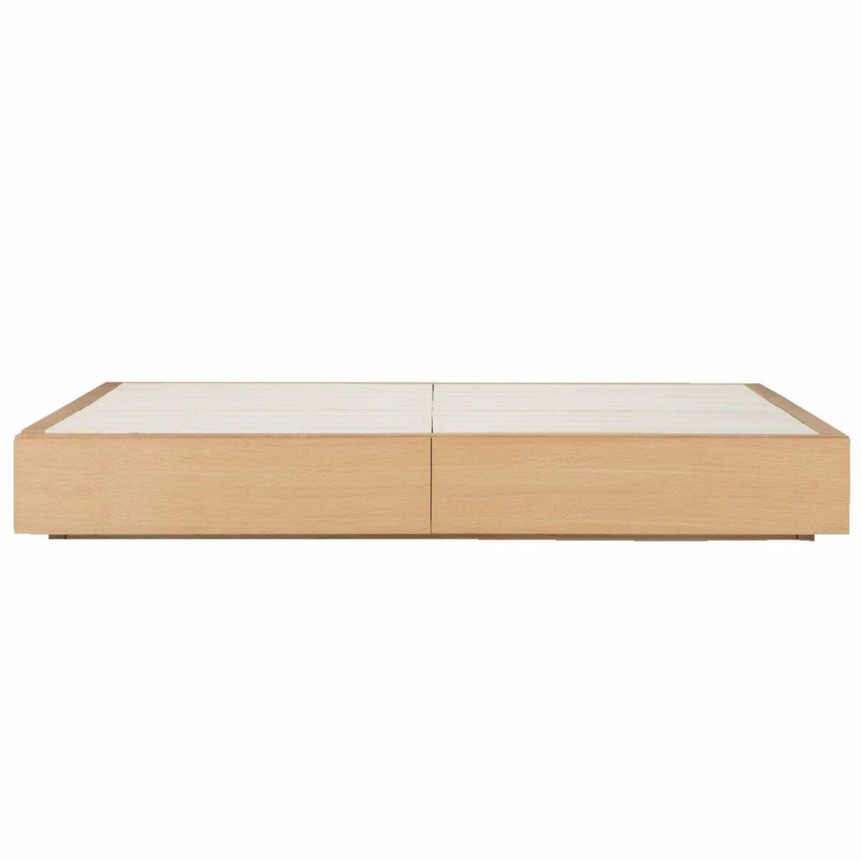 Muji Oak Queen Storage Bed - image-1