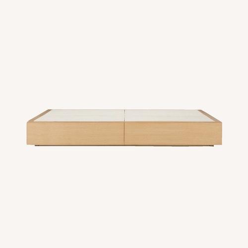 Used Muji Oak Queen Storage Bed for sale on AptDeco