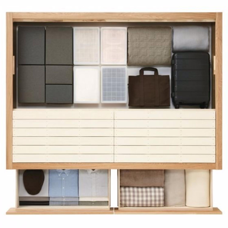 Muji Oak Queen Storage Bed - image-2