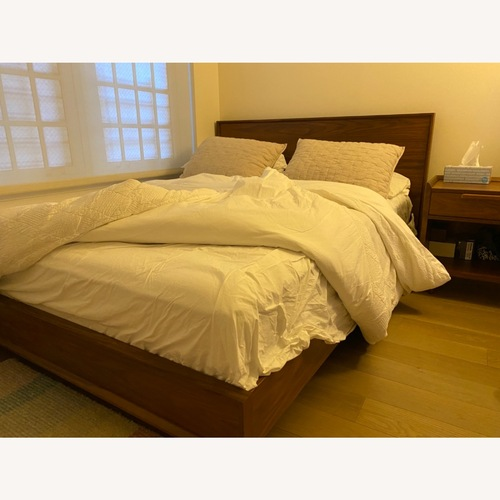 Used Crate and Barrel Queen Bed for sale on AptDeco