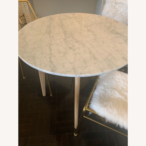 Used Article Mara Oak/Marble Round Cafe Table for sale on AptDeco