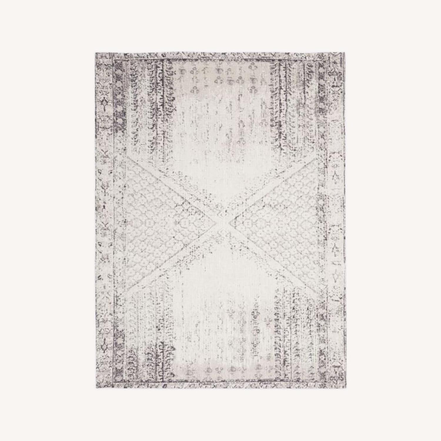 West Elm Distressed Ensi Rug, Stone White - image-0