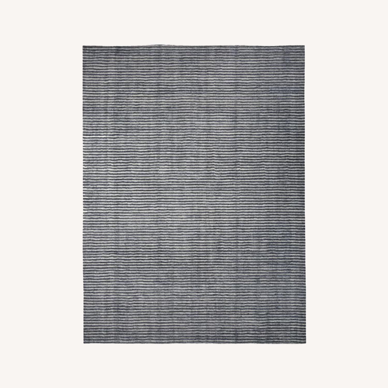West Elm Terra Stripes Rug, Slate - image-0