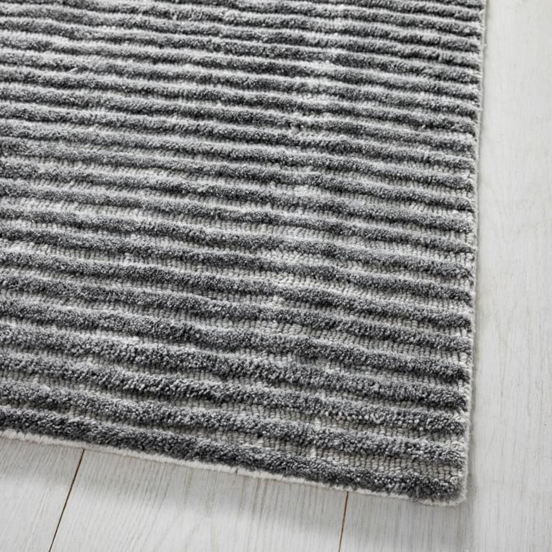 West Elm Terra Stripes Rug, Slate - image-1