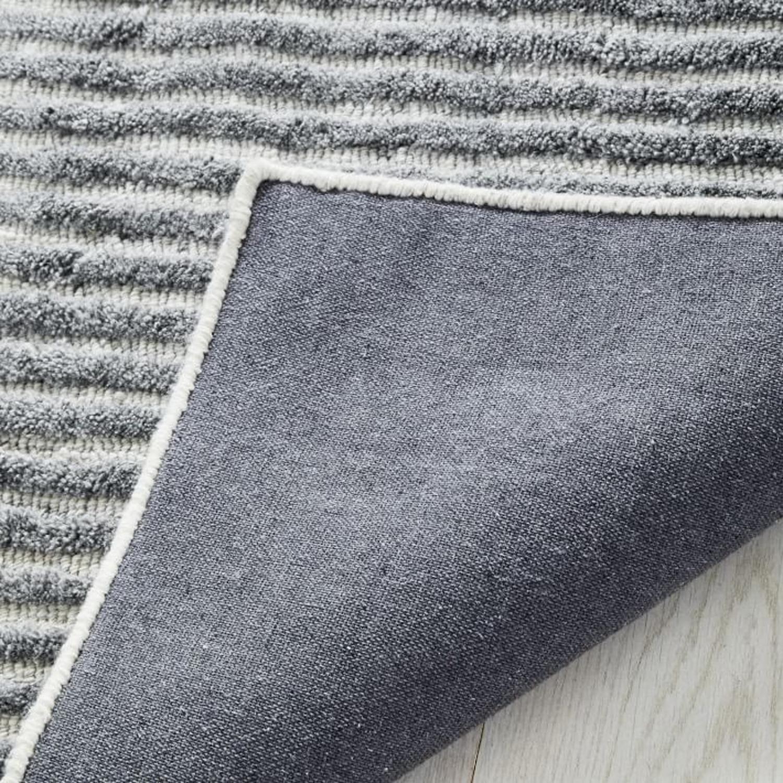 West Elm Terra Stripes Rug, Slate - image-3