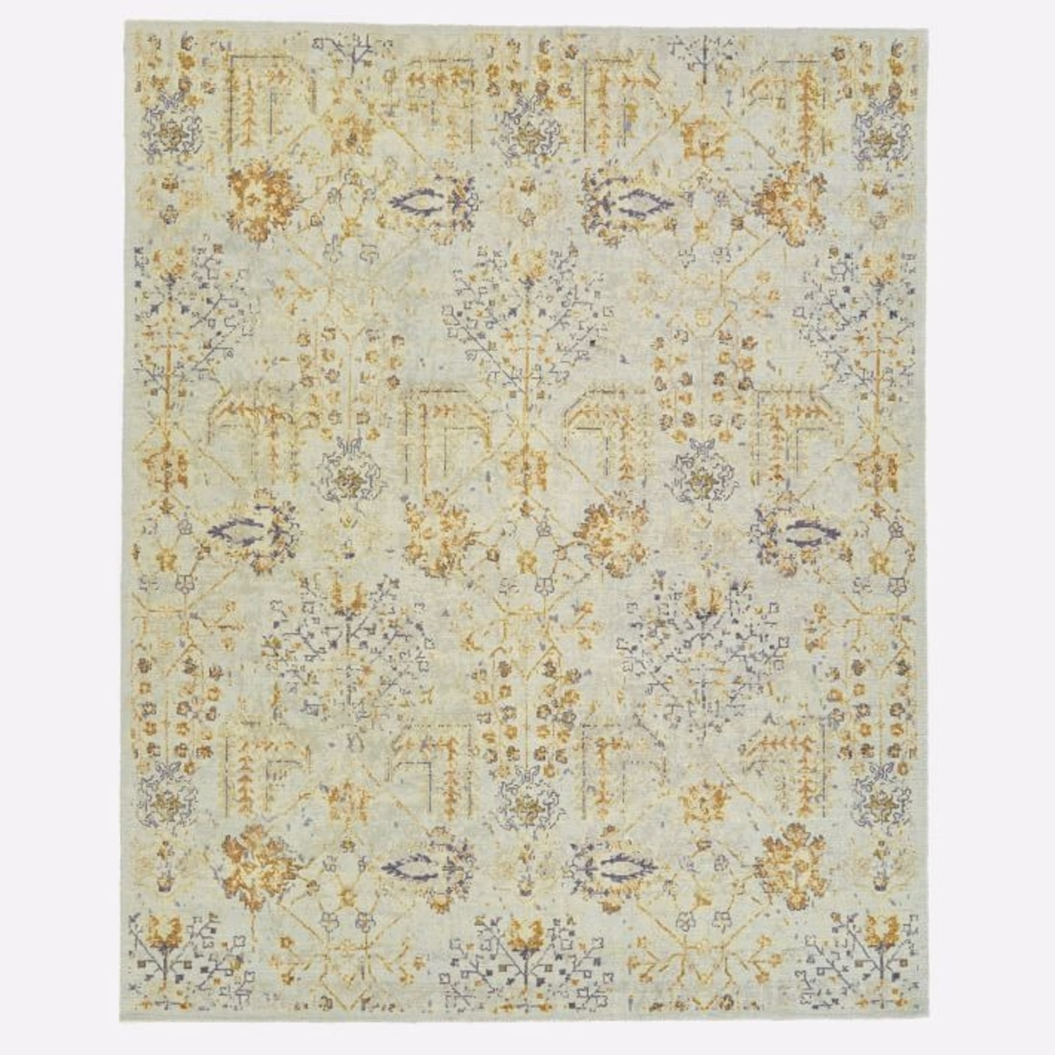 West Elm Printed Canopy Rug, Frost Gray - image-1