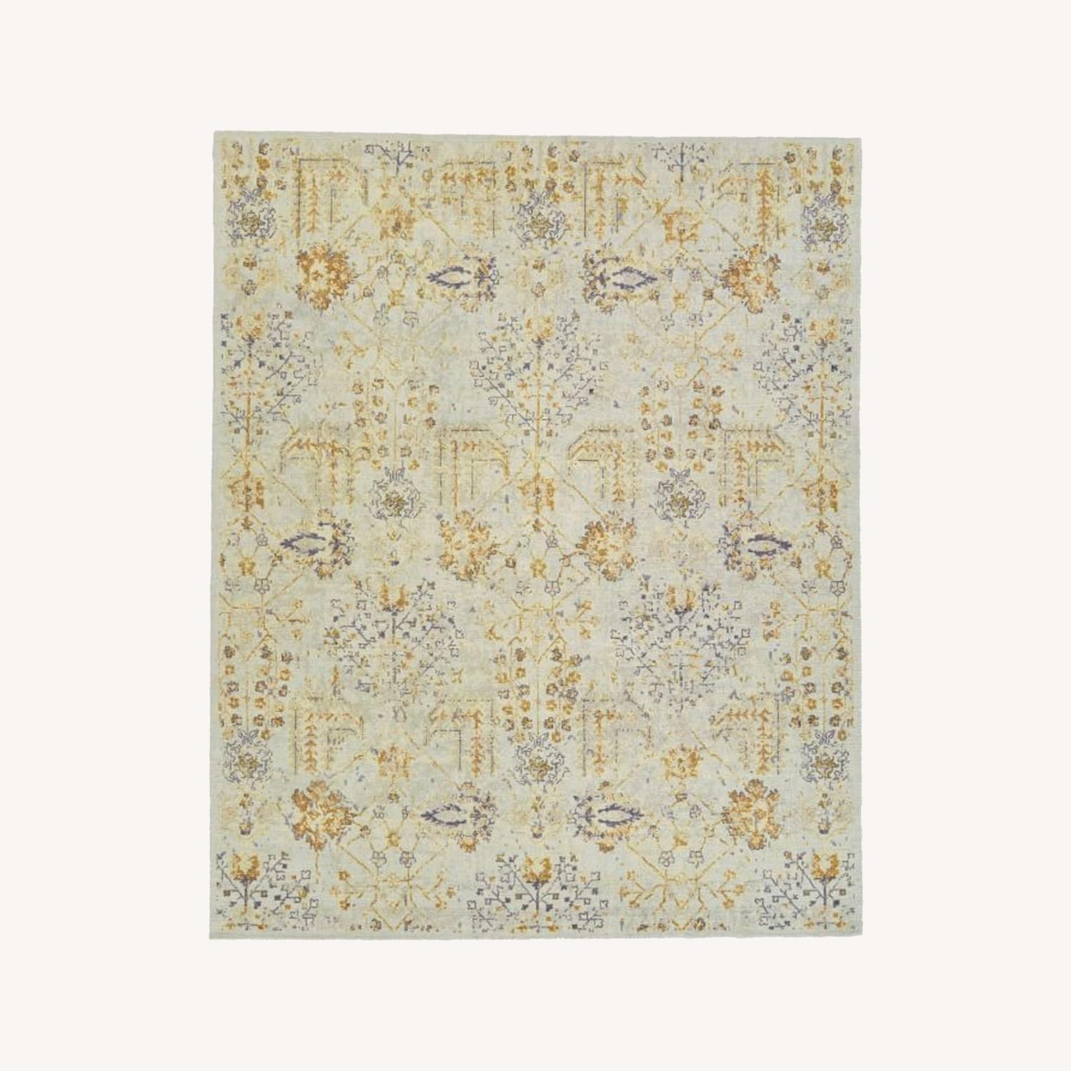 West Elm Printed Canopy Rug, Frost Gray - image-0