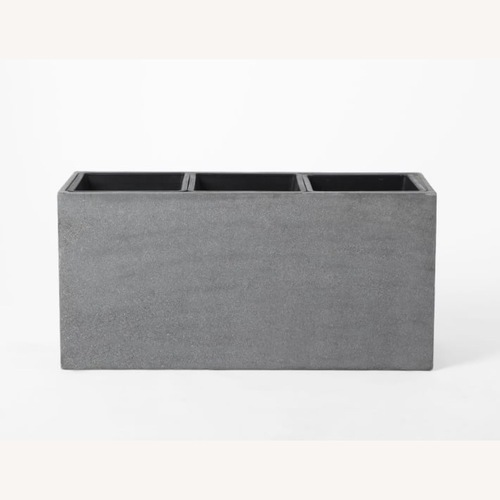 Used West Elm Cityscape Triple Planter Gray for sale on AptDeco