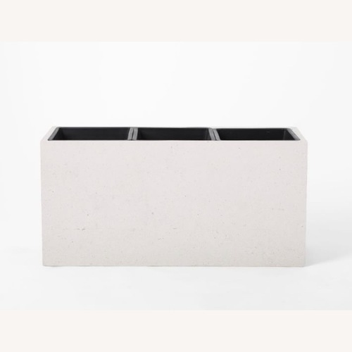 Used West Elm Cityscape Triple Planter White for sale on AptDeco