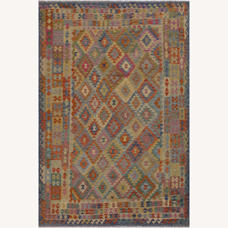 "Arshs' Fine Rugs Retro Vintage Kilim Wool Rug - 6'7"" x 9'11"" - image-1"