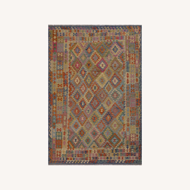 "Arshs' Fine Rugs Retro Vintage Kilim Wool Rug - 6'7"" x 9'11"" - image-0"