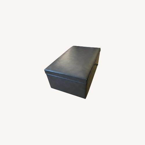 Used OSP Furniture Storage Ottoman with Pullout Desk/Tables for sale on AptDeco