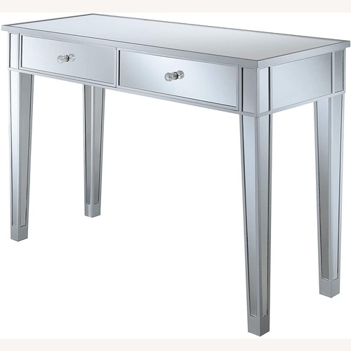 Used Convenience Concepts Mirrored Desk/ Vanity for sale on AptDeco