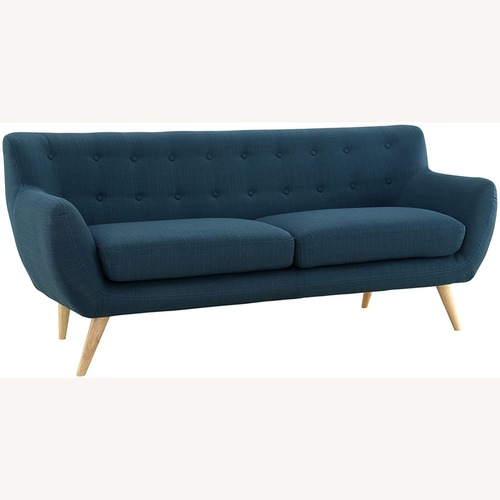 Used Mid-Century Fabric Sofa In Azure Upholstery Finish for sale on AptDeco