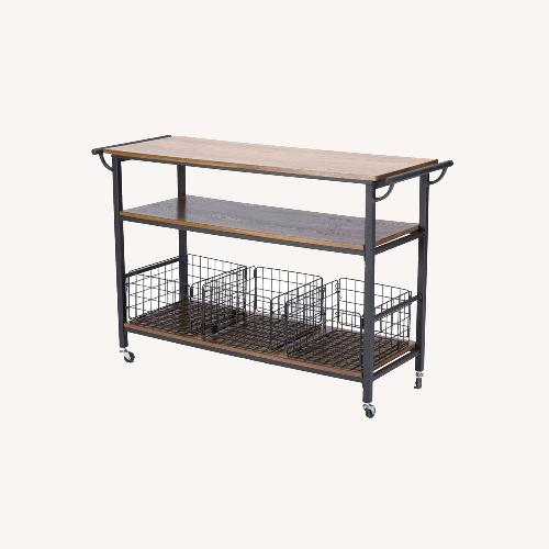 Used Fresnay Kitchen Cart with Wooden Top for sale on AptDeco