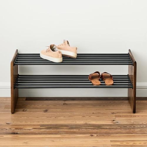 Used West Elm Anton Shoe Rack, Burnt Wax for sale on AptDeco