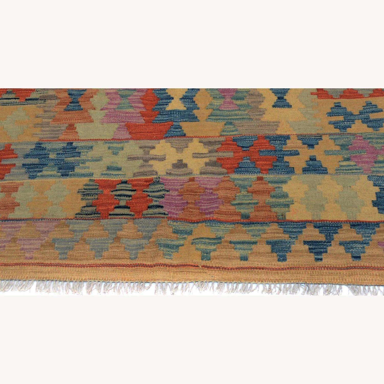 "Arshs' Fine Rustic Marlon Tan Wool Kilim Rug - 5'0"" x 6'6"" - image-5"