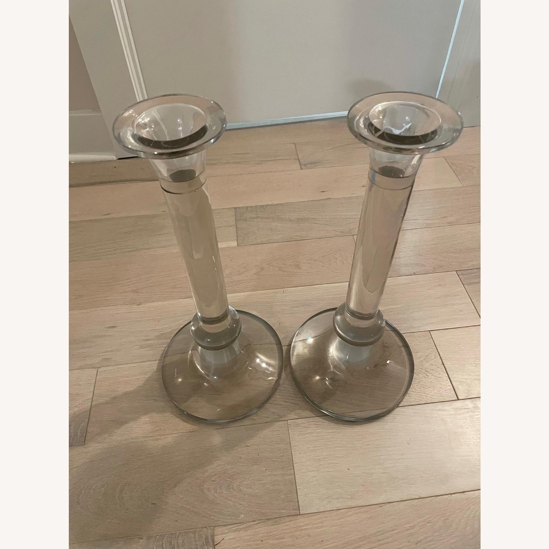 Large Crystal Candlesticks - image-1