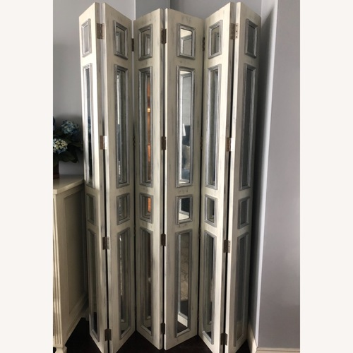 Used Mirrored Wooden screen John Richard collection for sale on AptDeco