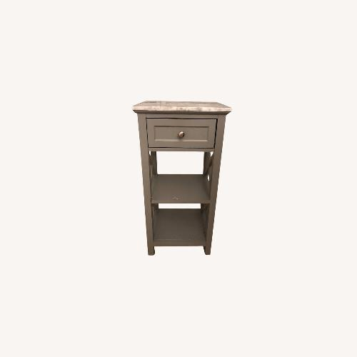 Used Marble-Top Gray Side Table for sale on AptDeco