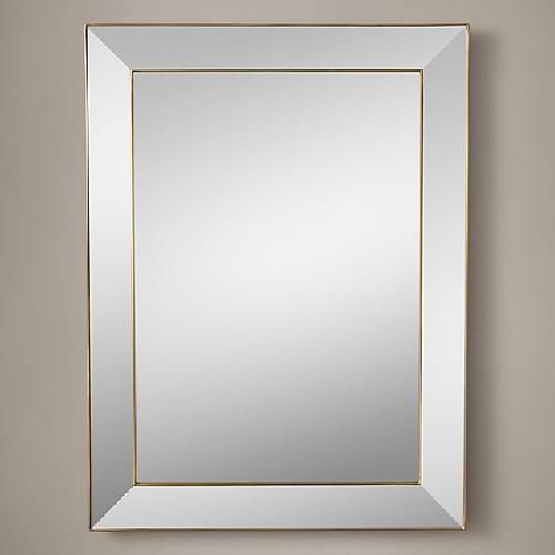 Used Restoration Hardware Alto Mirror in Antiqued Brass for sale on AptDeco