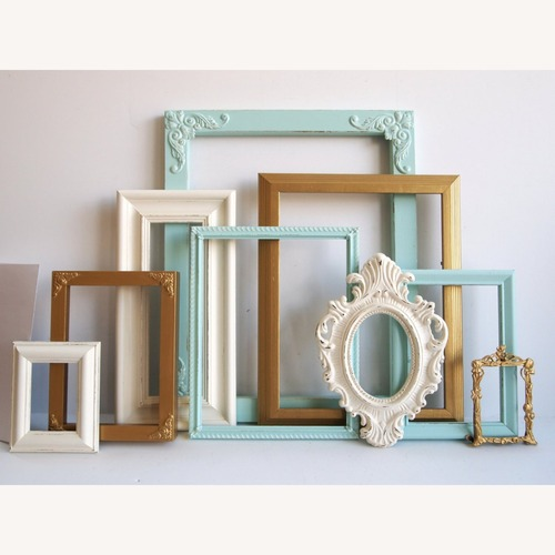 Used Picture Frame Collection - Set of 9 - Gallery Wall for sale on AptDeco