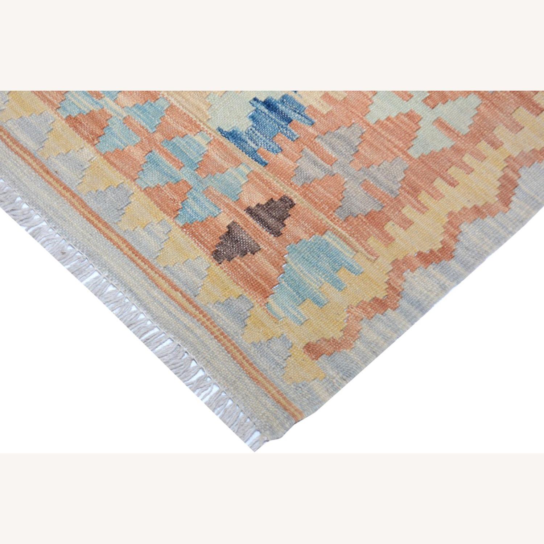 """Tribal Kilim Gray Blue Wool Rug - 3'4"""" x 5'5"""" - image-5"""