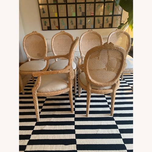 Used Vintage Faux Bois Dining Chairs - set of 6 for sale on AptDeco